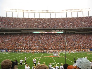 Darrell K. Royal-Texas Memorial Stadium; east side, 50-yard line, 7th row.