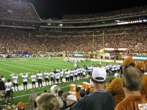 DKR-Texas Memorial Stadium; looking at the North End Zone against Colorado in 2009. Final score, 38-14 'Horns.