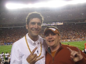 Eyes Of TX and BigBopper taking in the Texas v. Colorado game in 2009.